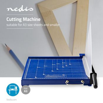 PACU110A3 Papiersnijmachine | max. snijden maat: 297 x 420 mm | soort mes: metaal | metaal | blauw / zwart Product foto