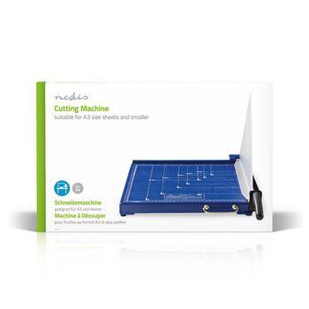 PACU110A3 Papiersnijmachine | max. snijden maat: 297 x 420 mm | soort mes: metaal | metaal | blauw / zwart Verpakking foto