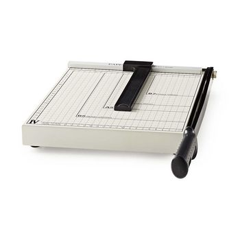 PACU110A4 Papiersnijmachine | max. snijden maat: 210 x 297 mm | soort mes: metaal | metaal | wit / zwart Product foto