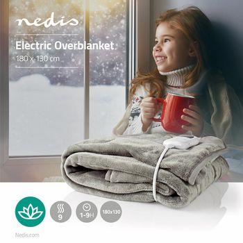 PEBL140CWT Elektrische onderdeken | bovendeken | 1 persoon | 180 x 130 cm | 9 warmte standen | wasmachinebesten Product foto