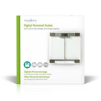 PESC110DCT Personenweegschaal   digitaal   transparant   gehard glas   maximaal weegvermogen: 180 kg Verpakking foto