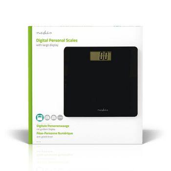 PESC111DBK Personenweegschaal | digitaal | zwart | gehard glas | maximaal weegvermogen: 180 kg Verpakking foto