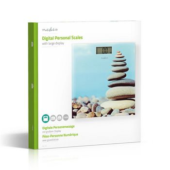PESC112DVA Personenweegschaal | digitaal | stenen | gehard glas | maximaal weegvermogen: 150 kg Verpakking foto
