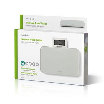 PESC113DWT Personenweegschaal   digitaal   wit   gehard glas   maximaal weegvermogen: 150 kg Verpakking foto