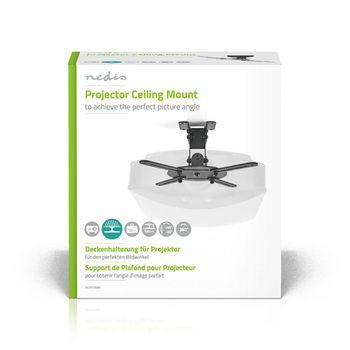 PJCM100BK Projectorbeugel | full motion | 10 kg | draaibaar | kantelbaar | zwart Verpakking foto