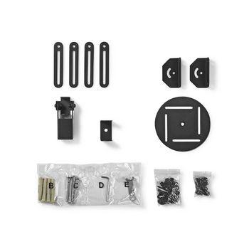 PJCM100BK Projectorbeugel | full motion | 10 kg | draaibaar | kantelbaar | zwart Inhoud verpakking foto