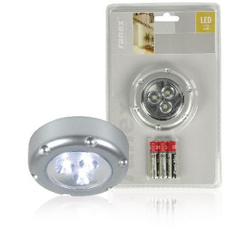 RA-6000072 Led lamp met druktoets 3 zilver Verpakking foto