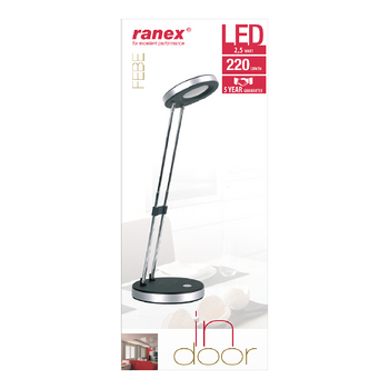 RA-6000638 Led bureaulamp 2.5 w zwart Verpakking foto