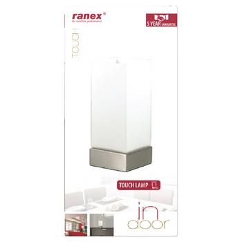 RA-INDOOR20 Tafellamp touch-functie 40 w geborsteld wit Verpakking foto