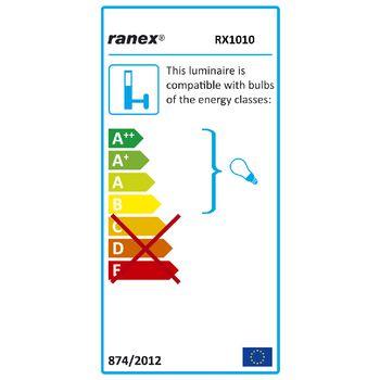 RA-RX101038R-S Wandlamp buiten 20 w incl. bewegingssensor geborsteld staal  foto