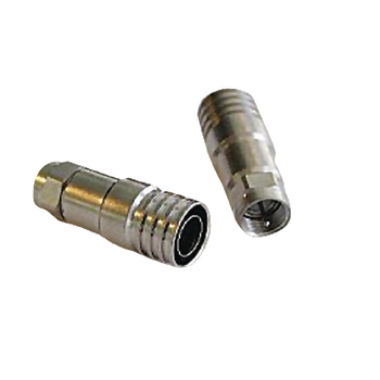 RH-FMRG11ALM F-connector 10 mm male zilver