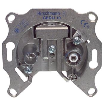 RH-GEDU10 Antenne wandcontactdoos doorvoer 2.5 db 2 zilver