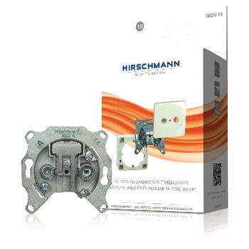 RH-GEDU15-BL Antenne wandcontactdoos doorvoer 1.0 db 2 zilver