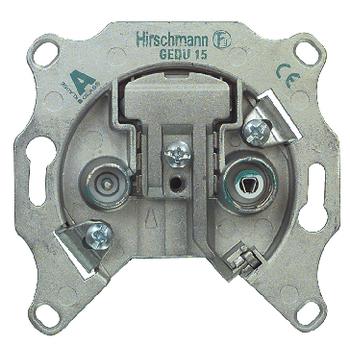 RH-GEDU15-BL Antenne wandcontactdoos doorvoer 1.0 db 2 zilver Product foto