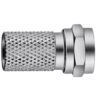 RH-SFC070/B F-connector 7.0 mm male metaal zilver