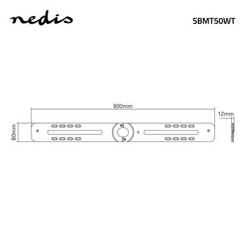 SBMT50WT Soundbar-beugel | sonos® playbar™ | muurbeugel | 15 kg | vast | wit Product foto