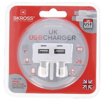 SKR1302700 Reisadapter uk usb ongeaard Verpakking foto
