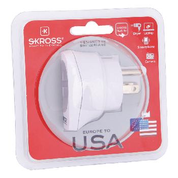 SKR1500203 Reisadapter europa-naar-usa geaard Verpakking foto