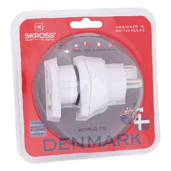 SKR1500214 Reisadapter combo - wereld-naar-denemarken geaard Verpakking foto