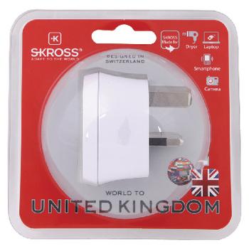 SKR1500220 Reisadapter wereld-naar-uk geaard Verpakking foto