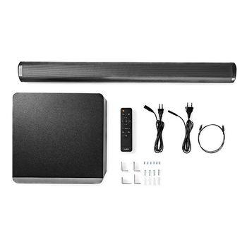 SPSB420BK Soundbar | 390 w | 2.1 | bluetooth® | subwoofer | afstandsbediening | muurbeugel Inhoud verpakking foto
