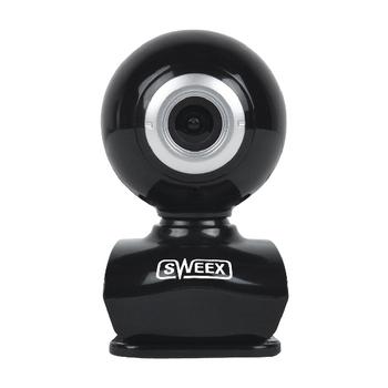 WC035V2 Webcam usb 0.3 mpixel sd kunststof zwart/zilver Product foto