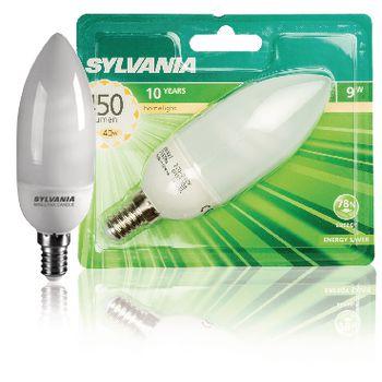 SYL-0035304 Fluorescentielamp e14 kaars 9 w 450 lm 2700 k Verpakking foto