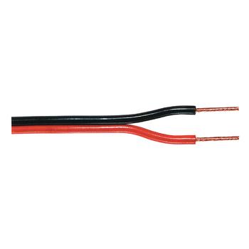 TASR-C102-1.00 Luidsprekerkabel op rol 2x 1.00 mm² 100 m zwart/rood
