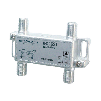 TFC1621 Catv-splitter 1.7 db / 5 - 1218 mhz - 2 uitgangen