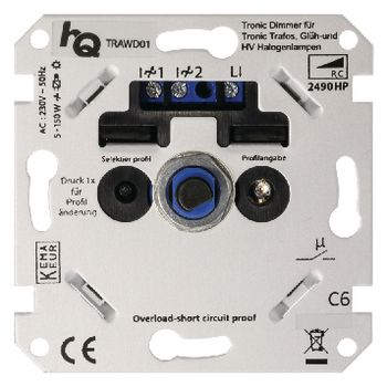 TRAWD01 Led-dimmer muur 5-150 w Product foto