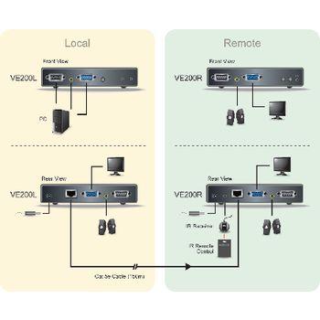 VE200-AT-G Vga / audio cat5 extender 200 m Product foto