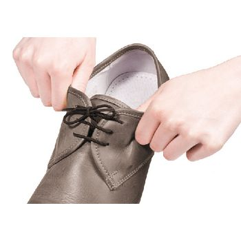 VIT-70110020 Schoenveters elastisch 60 cm zwart Product foto