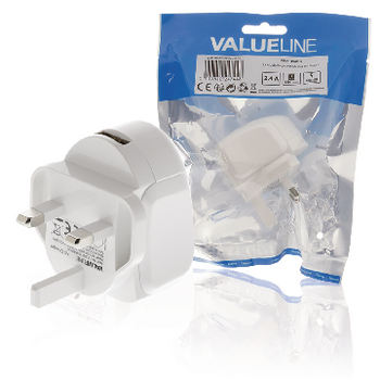 VLMP11955WUK Lader usb 1-uitgang 2.4 a 2.4 a usb wit