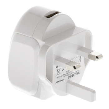 VLMP11955WUK Lader usb 1-uitgang 2.4 a 2.4 a usb wit Product foto