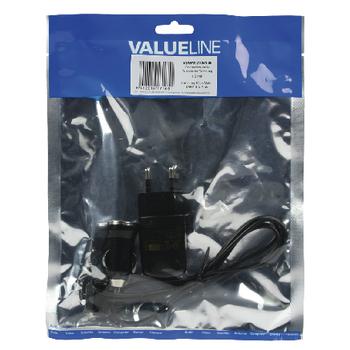VLMP39210B1.00 Lader 1-uitgang 1.0 a 1.0 a usb zwart Verpakking foto