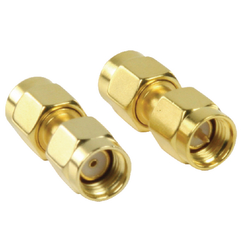 VLSP02110A Sma-adapter rp sma male - sma male goud Product foto