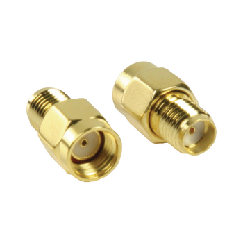 VLSP02111A Sma-adapter rp sma male - sma female goud Product foto