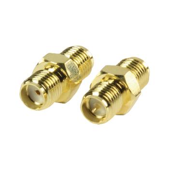VLSP02113A Sma-adapter rp sma female - sma female goud