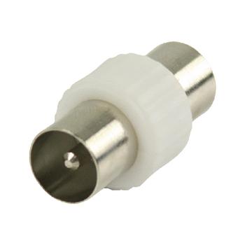VLSP40940W Coax-adapter coax male (iec) - coax male (iec) wit