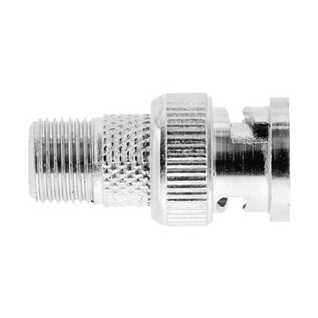 VLSP41965M Coax-adapter bnc bnc male - f-connector female zilver Product foto