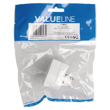 VLTP90926W Nederlandse telecom adapter nederlandse telecom male + female - rj11 (4/6) male wit Verpakking foto