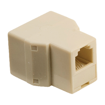 VLTP90990I Telecom-adapter rj11 (4/6) male - 2x rj11 (4/6) female ivoor