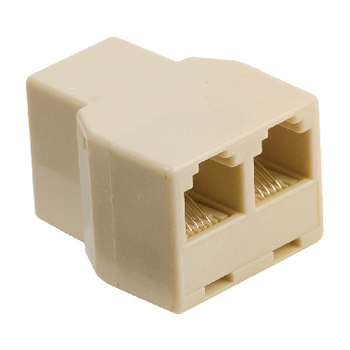 VLTP90990I Telecom-adapter rj11 (4/6) male - 2x rj11 (4/6) female ivoor
