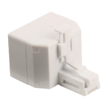 VLTP90995W Telecom-adapter rj11 (4/6) female - 2x rj11 (4/6) female wit
