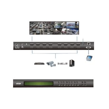 VM5808H-AT-G 8 x 8-poorts hdmi matrix zilver Product foto