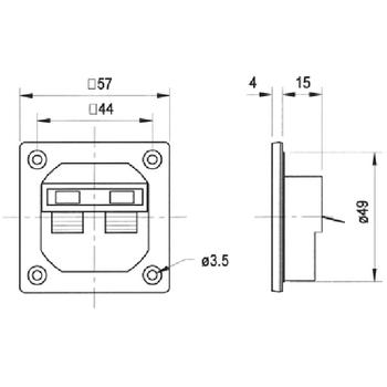 VS-5192 Luidspreker aansluitklem In gebruik foto