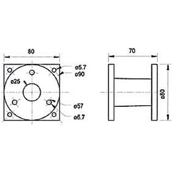 VS-AD25H Speakeraccessoires en -onderdelen Product foto