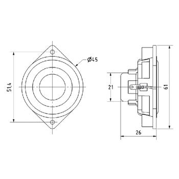 VS-BF45-4 Miniatuur luidspreker 4,5 cm (1.8\