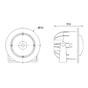VS-DK133-100V Hoorn luidspreker 100 v In gebruik foto