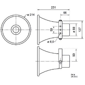 VS-DK8/100V20 Hoorn luidspreker 100 v In gebruik foto